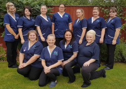 Care workers team